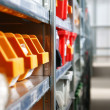 Stockfoto: Storage bins and racks