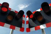 铁路警告灯 — 图库照片