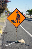 Road works ahead — Stock Photo