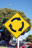 Roundabout ahead — Stock Photo