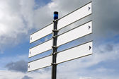 Blank Direction Sign — Stock Photo