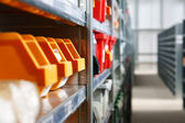 Storage bins and racks — Stock Photo