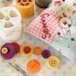 Foto Stock: Sewing kit
