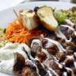 Iskender kebab a popular Turkish dish — Stock Photo