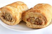 Pork sausage rolls — Stock Photo
