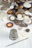 Vingerhoed en naaien items — Stockfoto