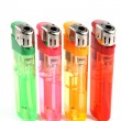 Colorful gas lighters — Stock Photo