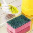 Nylon pan scourer — Stock Photo