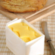 Fresh hand churned butter — Stock Photo