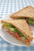 Bacon Lettuce and Tomato Sandwich — Stock Photo