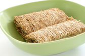 Shredded wheat biscuits — Stock Photo