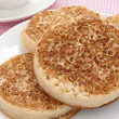 Stock Photo: Toasted crumpets
