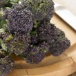 Stock Photo: Purple sprouting broccoli