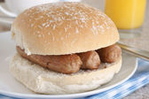 Sausage Sandwich — Stock Photo
