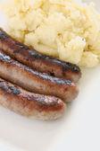 香肠和土豆泥 — 图库照片