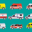 Ambulance cars — Stock Vector
