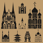 Cathedrals and churches — Stock Vector
