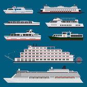 Passenger ships infographic — Stock Vector