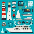 Ships - Yachts equipment — Stock Vector
