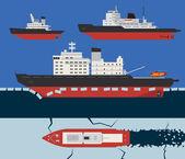 Icebreaker infographics — Stock Vector