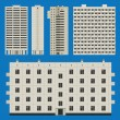 Постер, плакат: Buildings set with block houses