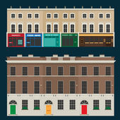 English terrace houses — Stock Vector