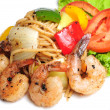 "Stock Photo: Spicy Spaghetti Shrimp ""pad kee mao"""