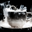 A Coffee cup smoke abstract art — Stock Photo