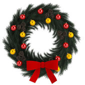 Christmas advent wreath isolated on white — Photo