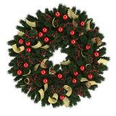 Jul advent krans isolerad på vit — Stockfoto