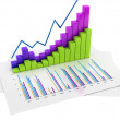 Graphs of Financial Analysis - Isolated — Stock Photo #33404737