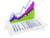 Graphs of Financial Analysis - Isolated — Stock Photo