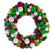 Colorful round christmas advent wreath. Isolated — Stock Photo
