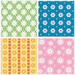 Stock Vector: Patterns with flowers