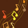 Illustration of the musical notes — Imagens vectoriais em stock