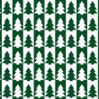 Christmas trees pattern, background — Stock Vector