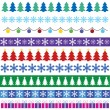 Cristmas borders — Stock Vector