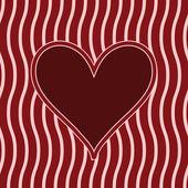 Marco con el corazón — Vector de stock