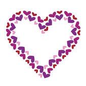 Valentine heart decorative frame — Stock Vector