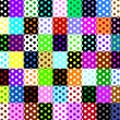 Polkdots, 63 seamless patterns — Stock Vector #38719517