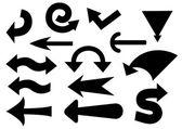 Set of black arrows. vector illustration — Stock Vector