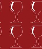 Bezešvé vzor s červeným sklem siluety. vektorové ilustrace. — Stock vektor