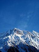 Snowy Rocky Mountain Peaks and Blue Sky - Italian Alps Landscape (Ponte di Legno, Lombardia) — Photo