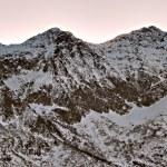 Snowy Brown Mountain, Morning Light - Italian Alps — Stock Photo