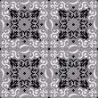 Stylized Lace Seamless Pattern Decoration on Silver Background — Stock Vector