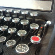 Close up photo of antique typewriter keys — Stock Photo