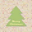 Vintage Christmas tree on random polka dots background. Seamless pattern. Background with place for text. Vector illustration. — Stock Vector