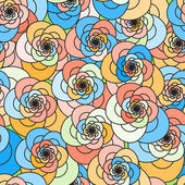 Vector seamless floral pattern. Colorful background. — Stock Vector