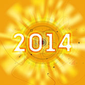 2014 year forecast radar high tech vector illustration. Technology or scientific predictions background for new year. Vector interface. — Stock Vector