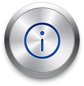 Vector silver power button. — Stock Vector